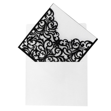 Hot 10Pcs European Style Hollow Out Decorative Wedding Invitation Card Greeting Card Congratulation Card with Envelope