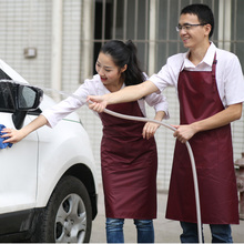 Aprons Seven lotus Car Wash waterproof work clothes 20004 Korean Restaurant Hotel Kitchen apron men and women fund Customized