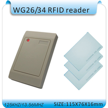 wholesale 125KHZ RIFD card Reader /access control reader WG26/34 ID Card Reader +10pcs card(China)