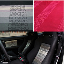 All Color JDM RECARO Racing Seat Cover Fabric For SPARCO/BRIDE/RECARO Headliner Material Door Armest Cloth 1mx1.6m(China)