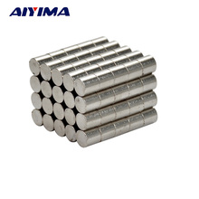 AIYIMA 100pcs Round Powerful Magnet Strong Magnetic Rare Earth Neodymium Magnets 5*5MM Permanent Teaching NdFeB Magneet Neodimio