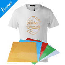 10x12inch Glitter heat transfer vinyl(thick) type 8 pieces