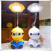 Cartoon mini rechargeable LED table lamp children learning light bedside lamp night light