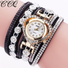 Buy CCQ Brand Fashion Luxury Rhinestone Bracelet Watch Ladies Quartz Watch Casual Women Wrist Watch Relogio Feminino Gift C99 for $2.27 in AliExpress store