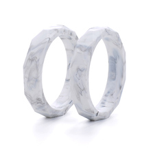 Wholesale 10pcs/lot Marble Silicone Baby Teething Bracelet Fashion Silicone Teething Bangles For Women Baby Teething Chew Beads(China)