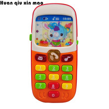 Kids phone Children toy phone Electronic Mobile Phone with Sound Smart Phone Toy Cellphone Early Education Toy Infant Toys