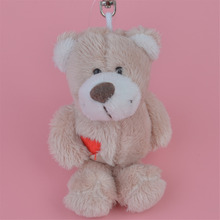 3 Pcs Dark Color Bear Small Plush Pendant Toy, Kids Doll Keychain / Keyholder Gift Free Shipping(China)
