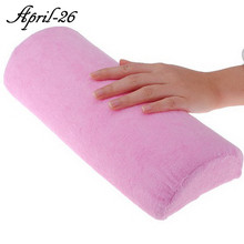 Professional Random Color Soft Hand Rest Cushion Pillow Nail Art Design Manicure Care Salon Half Column Tool Hot(China)