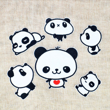 Buy 6pcs Pandas patches animal badge clothing iron embroidered patch applique iron sew patches sewing accessories clothes for $2.58 in AliExpress store