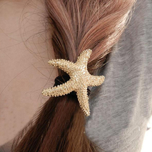 2PCS/Lot Hot Sell Fashion Girl's Hair Ornaments Gold color Starfish Hair Accesories Star hair bands for women jewelry