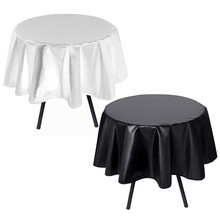 Hot Nappe table cloth White & Black for  round  Banquet Wedding Party Decor  table cover