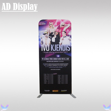 80*200cm Portable Straight Full Color Printed Graphics With Reusable Aluminum Banner Stand,Popular Tension Fabric Display Wall(China)