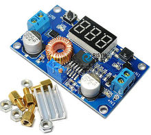 5A Adjustable Power DC-DC Step-down Charge Module LED Driver With Voltmeter dc-dc step-down Voltage Regulator