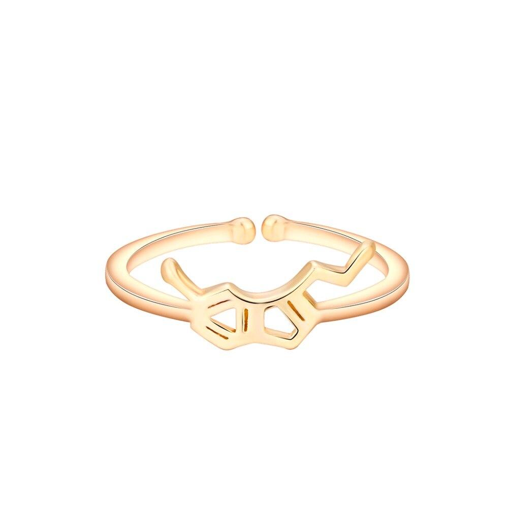 QIAMNI-Trendy-Geometric-Polygon-Serotonin-Molecule-Chemistry-Dopamine-Open-Finger-Ring-Women-Love-Christmas-Birthday-Gift