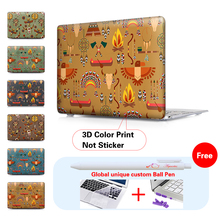 Tribal Totems Design Clear/Matte Case for Macbook Pro Retina 12 13 15 Air 11 13 inch Laptop Bag for Mac Book Pro 13 15 Case(China)