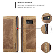 CaseMe Brand For Samsung Galaxy Note 8 X 6.3 inch Case Cover Magnetic Denim Canvas Wallet Stand With Card Holder Phone Bag(China)