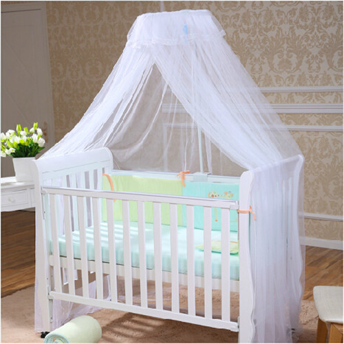 2015 Hot Sale Baby Crib Canopy Tent Kids Crib Mosquito Net White Color Baby Infant Kids Bed Net Cortina Para Cama Dossel<br><br>Aliexpress