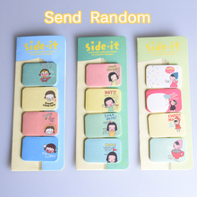 4pcs/set Kawaii Girl Memo Pad Sticky Notes Office School Stationery Supplies Calendar Diary Album Notebook Bookmark Decoration