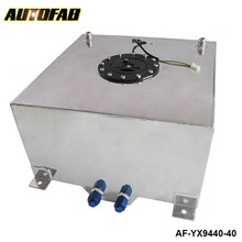 AUTOFAB - 40L Aluminium FUEL CELL TANK polished FUEL LEVEL SENDER AN-10 outlets AF-YX9440-40
