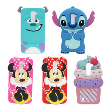 For LG K8 Case Cute Cartoon Minnie Pink Bow Dot Red Stitch Sulley Sully Ice Cream Silicone Cell Phone Shell Skin Cover For LG K8
