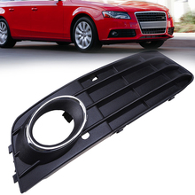 Car Styling ABS Front Grill Grilles For Audi A4 B8 2007 2008 2009 2010 2011 Pre-facelift Right Racing Grills Fog Light Covers