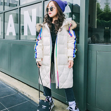 Girls Thicken Winter Coat Hoodies Cotton Colors Street Fashion Long Outwear Hooded Warm Children Coat Clothing For Girls Kids(China)