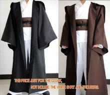 Adults/Kids Star Wars Jedi Knight Cloak Robe Cosplay Costume Hooded Cape Halloween(China)