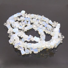 5-9mm Simulated Opalite Beads Stone Pierre De Lune Irregular Moonstone Parts To Make Jewelry 1 String 32inch(China)