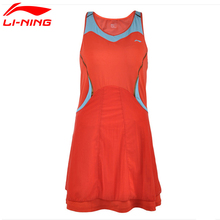 Li-Ning Women's Summer Breathable Tennis Dresses for Girls Sleeveless Above Knee Quick Dry Sports Woman's tenis Dress ASKH004