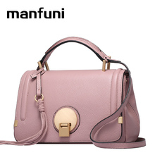 MANFUNI luxury Handbags Designer For Women Import High-end Genuine Leather Bag Ladies Famous Brands Crossbody Bag Baguette 0748(China)