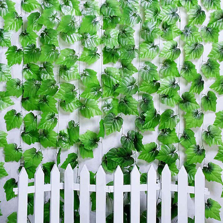 Hot Selling 2.4M Artificial Ivy Leaf Hanging Garland Flowers Vine for DIY Home Wedding Floral Wall Garden Decor VB514 P50(China (Mainland))