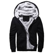 2016 SportWear Men's Hooded Hoodies  Men Sweatshirt Wool Liner Winter Thick Warm Fleece Hoodies for Mens Tracksuit Male Coat