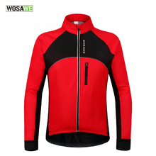 WOSAWE Thermal Cycling Jackets Winter Warm Up Bicycle Clothing Windproof Waterproof Sports Wear MTB Bike Jersey ropa ciclismo(China)