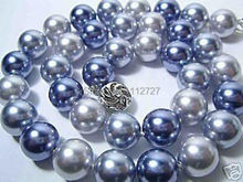 "Wholesale Price!!! New Fashion!35""10mm South Sea Shell Pearl Necklace AAA Multicolor beads jewelry making about 85 pcs/strands(China)"