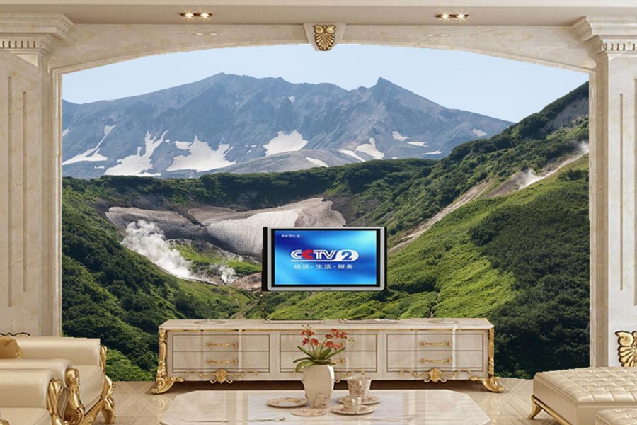 Russia Scenery Mountains Nature wallpapers papel de parede,living room sofa TV wall bedroom3d wall murals wallpaper nature<br>