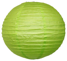 5pcs/lot 35cm (14inch) Lemon Green Chinese/Japanese Round Paper Lantern Balls Hanging Wedding Holiday Party Event Decorations