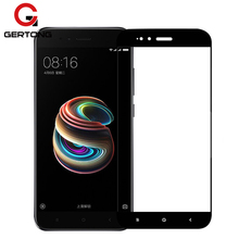 Buy GerTong Full Cover Tempered Glass Xiaomi Redmi 4X 4A 5 Plus Y1 Lite Note 5A Prime MiA1 Mi5X Screen Protector Protect Film for $1.12 in AliExpress store