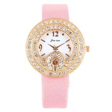 Womens Fashion Picture Design Leather Band Analog Alloy Quartz Wrist Watch#821(China)