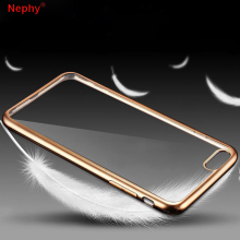 Nephy Luxury Clear Case For iPhone 5 5S SE 5SE 6 s 6S 8 10 X 7 Plus 6Plus 6SPlus 7Plus 8Plus Silicon gel Cell Phone Cover Silver(China)