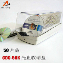 A Ausuky Anti-theft Lock Portable 50 Disc Capacity DVD CD Case for Car Media Storage CD Bag -20(China)