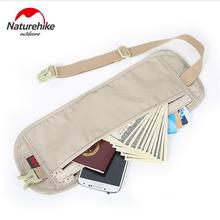 Naturehike outdoor travel invisible Waist Bag Belt light thin personal travel document mobile phone theft stealth wallet