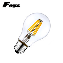 4pcs/lot E27 LED filament bulb 220V A60 dimmable bombillas light Clear Glass Vintage Edison Led Lamp Holiday Lighting For Home(China)