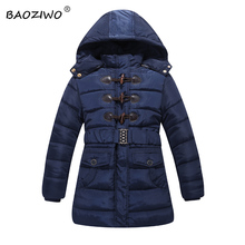 Baoziwo children winter jackets  for girls,polyester hooded zipper front with us size and polar fleece lining,Girls down &parka
