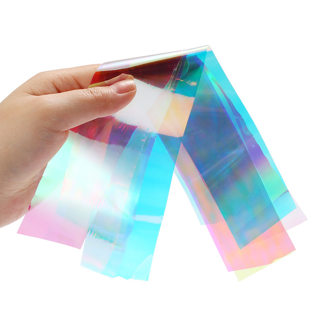 1PC Broken Glass Shining Brilliantly Coloured Nail Art Irregular Glass Foil Mirror Slice Platinum Paper Nail Art Sticker
