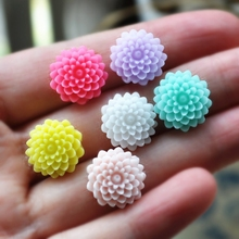 15mm 50pcs/Lot Mix For Phone/Wedding /Craft Flatback Appliques Resin Flowers