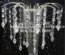 free shipping , no vase including ,30 pieces one lot ,table top waterfall  chandelier centerpieces for wedding decoration