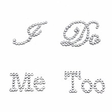 1 Set I Do Me Too Bridal Groom Shoe Sticker White Clear Rhinestone Wedding Decor Free Shiping