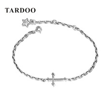 Buy TARDOO Charms Bracelets Real 925 Sterling Silver Cross Star Bracelet Fashion bracelet women bracelets & bangles gift Jewelry for $15.00 in AliExpress store