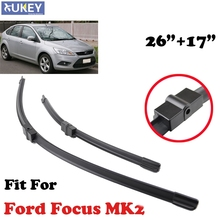 "XUKEY 26""+17"" Fit For 2004-2011 Ford Focus 2 Mk2 Windshield Windscreen Rubber Wiper Blades Front Window Frameless Bracketless"