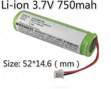 New! 10pcs 3.7v 750mah li ion battery rc bateria 2.7Wh for Scanner M2130 QuickScan Mobile 2130 VCD portable fax machines LED